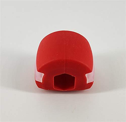 Nahrungsmittelkiesel-Kieselgel-Kaukiefer-Übung Kau-Kugel-Muskeln-Trainin-Fitness-Ball-Nacken-Gesicht toning jawrsisize-Kiefermuskeltraining (Color : Red)