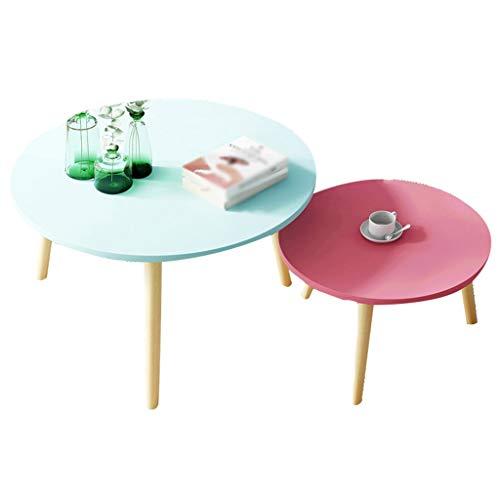 XZGang Tweedelige set massief houten tafelpoten kunst tafel huishouden restaurant kledingwinkel decoratieve salontafel eenvoudig leven