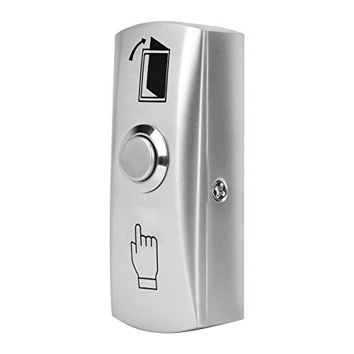 Silberne Türentriegelungstaste, Acrylglas-Türtaste, Berührungszugriffskontrolle für Türtürwerkzeug Türzugang