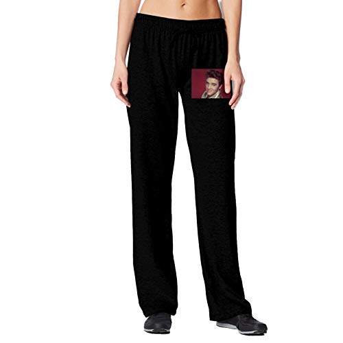 Women's Cotton Sweatpants E-lvis P-resley Cozy Joggers Pants Yoga Lounge Casual Pants Leisure Drawstring with Pocketed XX-Large Black