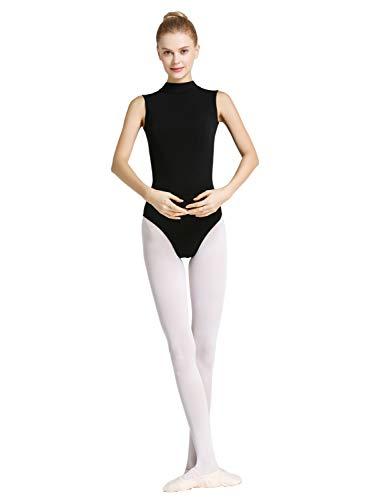 Tookang Damska dziewczęca koszulka z wydrążkami, bez rękawów, do tańca baletowego, bawełniana koszulka do ćwiczeń