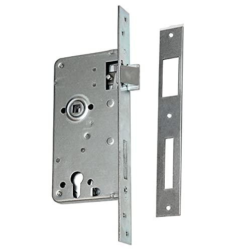 Cerradura empotrable para puerta, cerradura de entrada 90/63, cerradura derecha PZ