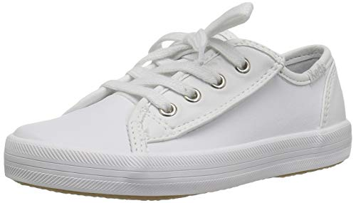 Keds Girls' Kickstart Core Jr. Sneaker, White Leather, 5.5 M US Toddl