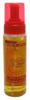 Creme Of Nature Argan Oil Style & Shine Foam Mousse 7oz (3 Pack) by Creme of Nature