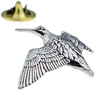 Spilla in peltro inglese Woodcock Bird