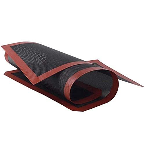Accesorios para aparatos de hornear galletas/pan/cocina alfombrilla de silicona perforada para hornear herramienta de revestimiento de alfombrilla de horno antiadherente, 2 piezas
