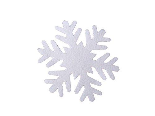 pemmiproducts Flocon de Neige en Feutre 41 cm, Environ 2 mm d'épaisseur, 50 pièces (EUR 1,63/pièce), Stable en Forme, la décoration d'hiver, Neige Artificielle