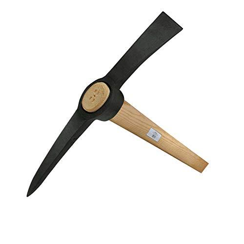 Ideal 38013001 Kreuzhacke 3,0Kg mit Buchenstiel, Schwarz/beige, 6.5x95.5x53 cm