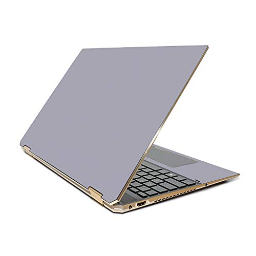 """MightySkins Skin Compatible With HP Spectre x360 15.6"""" Gem-Cut (2019) - Solid Gray   Protective, Durable, and Unique Vinyl Decal wrap cover   Easy To Apply, Remove, and Change Styles   Made in the USA"""