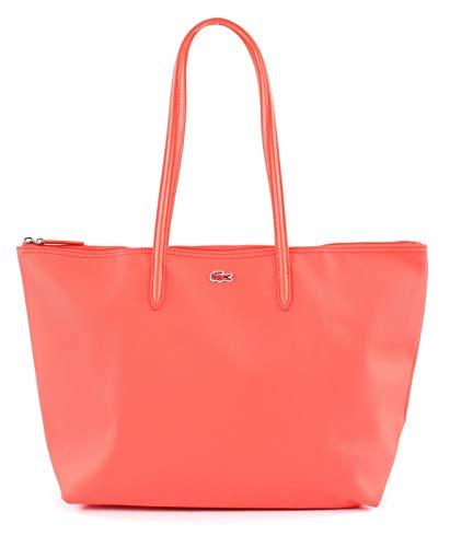 LACOSTE Damen Handtasche mit Reißverschluss - Shopping Bag, 47x29x13cm (BxHxT) (Koralle)