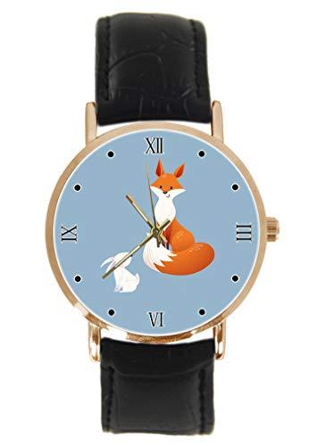 Reloj de pulsera unisex de cuarzo, analógico, de acero inoxidable, correa de...