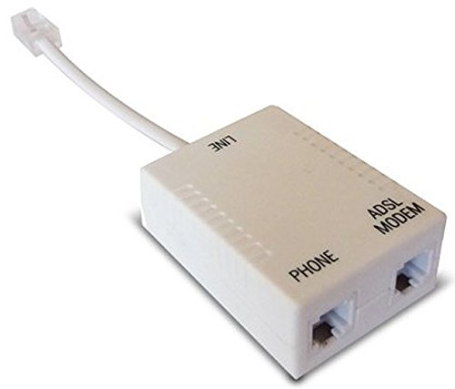 Waytex 39309 ADSL Filtro para aspiradoras RJ45 Cable 2 x RJ11 0,10 m Beige