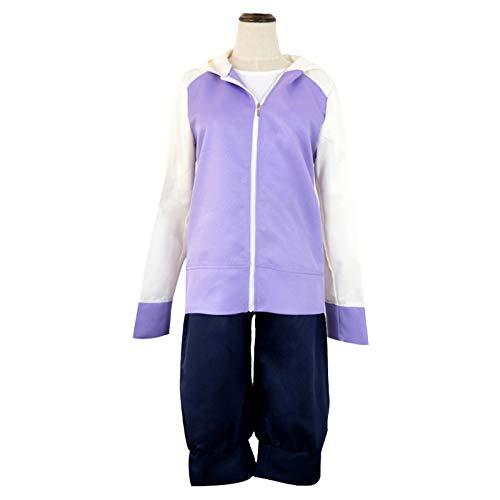 CDSVP Anime Hinata Hyuga Set Combo Cosplay Kostüm Sportswear Sweatshirts und Hosen,Lila,XL
