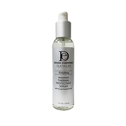 Design Essentials Platinum Finishing Weightless Thermal Protectant Serum with Grape Seed Extract 4fl.oz