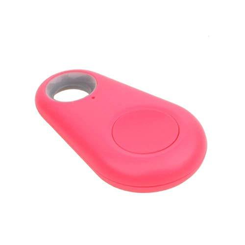 Dispositivo Rastreador GPS por Bluetooth Antipérdida Antirobo Etiqueta Inteligente iTag Tamaño Mini de Bolsillo - Rastreador de Niños, Coche, Personas, Moto, Mascotas, Bicicleta, Perros - Rosa