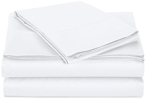 AmazonBasics 400 Thread Count Sheet Set, Twin, White