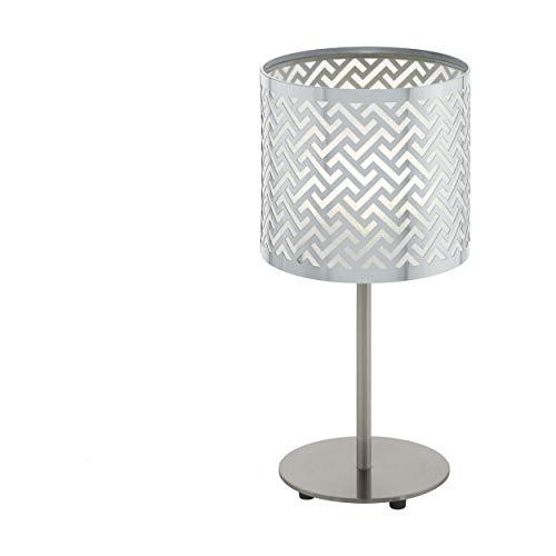 Preisvergleich Produktbild EGLO LEAMINGTON 1 Tischleuchte Stahl 60 W,  nickel-matt,  chrom