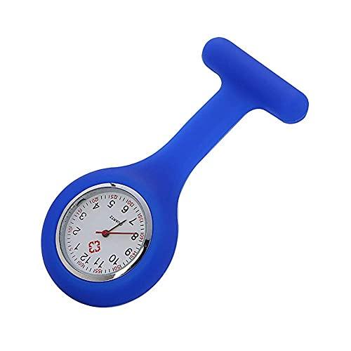 fikujap 2Pc Enfermera Doctor Brooch Watch, Silicona Infección De Pines Contro Design Fácil De Esterilizar Fácil De Usar Fácil De Leer,Azul