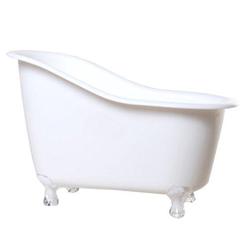 1 Deko Badewanne weiß Kunststoff 12,5 x 18 cm Hochzeit Umzug Geldgeschenke