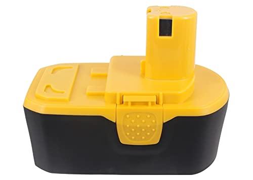 CS-RYB813PX Batterie 3000mAh Compatible avec [RYOBI] BID-1801M, BID-180L, BID1821, CAD-180L, CAG-180M, CAP-1801M, CCC-1801M, CCD-1801, CCG-1801M, CCS-1801/DM, CCS-1801/LM, CCS-1801D, CCW-180L, CDA180