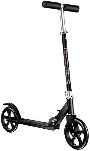 ZHYF Scooter Big Wheel Scooter - Scooter de Viaje Plegable para niños y Adultos con Manillar Ajustable, no eléctrico