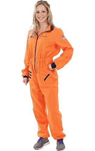 ORION COSTUMES Astronaut Weltraum Kostüm Orange Fasching Verkleidung Damen