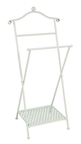 Haku Möbel valet stand - Plegable de metal encalado en blanco, altura 98 cm