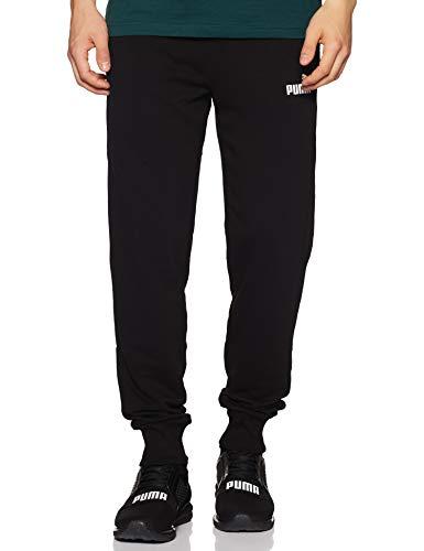 Puma Ess Logo Pants TR cl, Pantaloni Uomo, Black, L