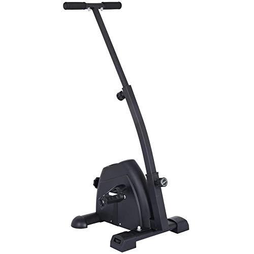 Ejercitador de pedales de bicicleta con pantalla LCD Máquina de venta ambulante de ejercicios para brazos y piernas Mini bicicleta de ejercicio sentado portátil Gimnasio en casa Entrenamiento físico