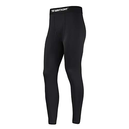 HOTSKON Men's Compression Pants Running Tights for Men Workout Sports Leggings