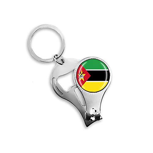 Mosambik Flagge Bier Flaschenöffner Nagelknipser Metall Glas Kristall Schlüsselanhänger Reise Souvenir Geschenk Schlüsselanhänger Zubehör