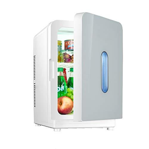 CROW Minikühlschrank, Weinflaschenkühler, Autokühlschrank, Thekenkühlschrank, Massivholztür mit Eisbox, Minikühlschrankkühler, Kompaktkühlschrank, Haus, Büro, Autokühlschrank-White