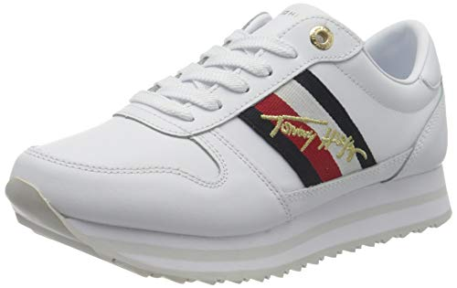 Tommy Hilfiger Angel 11a1, Sneakers Mujer, Blanco, 39 EU