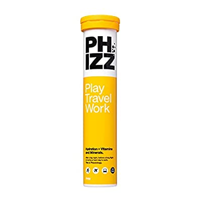 Phizz Electrolyte Multivitamin Rehydration Tablets - 19 Vitamins & Minerals, Energy Boost (Orange, 20 Tablets)