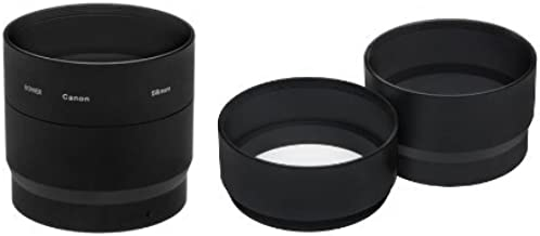 Canon Powershot G12 Filter Adapter (Alternative For Canon FA-DC58B, Part# 4721B001) + High Grade Multi-Coated, Multi-Threaded 3 Piece Lens Filter Kit (58mm) Made By Optics