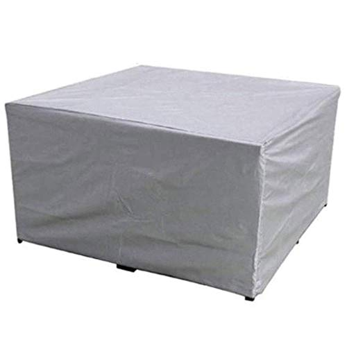 SEESEE.U Garden Furniture Covers Waterproof 160x140x120cm, Patio Furniture Cover, Covers Windproof Durable Oxford Cloth Patio Protection Dining Table, 2 Colors, 33 Sizes,Silver