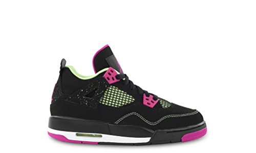 Nike Nike Mädchen Air Jordan 4 Retro 30Th GG Laufschuhe, Schwarz Rosa Weiß Schwarz Fuchsia Flash Lqd Lm Wht, 37.5 EU