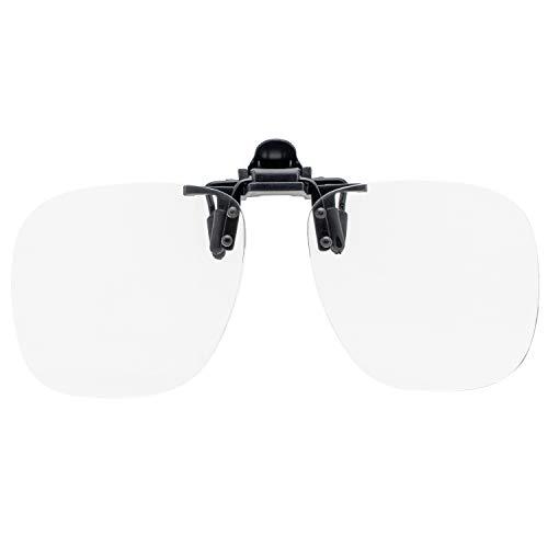 藤田光学 老眼鏡 クリップ式 3.0 度数 クリップアップ ウェリントン SL-181L+3.00