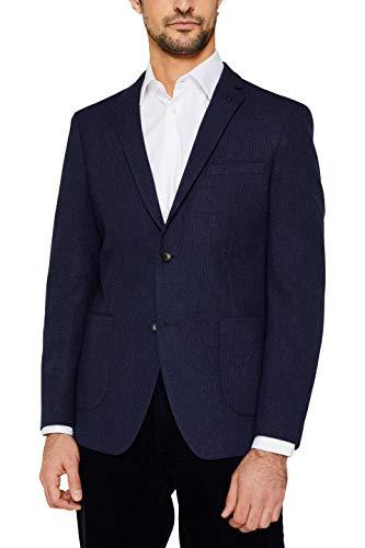 ESPRIT Herren 109Ee2G023 Blazer, Blau (Dark Blue 405), (Herstellergröße: 56)