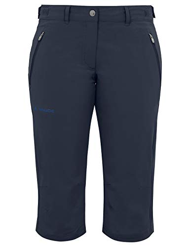 VAUDE Damen Hose Farley Stretch Capri II, eclipse, 44, 045787500440