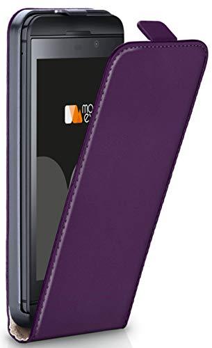 moex Flip Case für BlackBerry Z30 - Hülle klappbar, 360 Grad Klapphülle aus Vegan Leder, Handytasche mit vertikaler Klappe, magnetisch - Lila