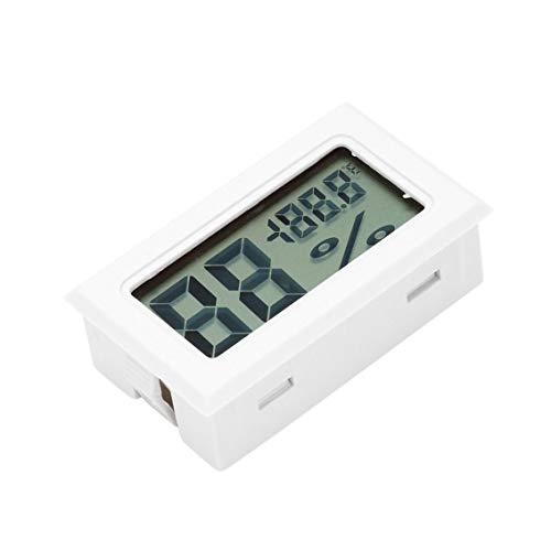 Professioneller Mini-Digital-LCD-Thermometer, Hygrometer, Luftfeuchtigkeitsmesser, Temperaturmessgerät, digitaler LCD-Display, Sensor (weiß)