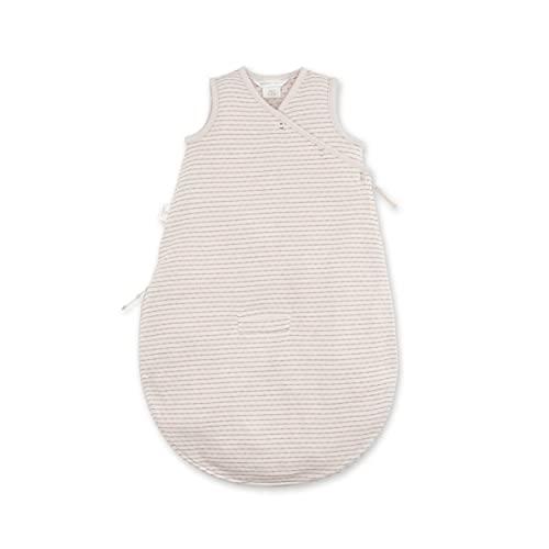 BEMINI Saco de dormir para bebés de 0 a 3 meses, diseño de rayas, color crudo