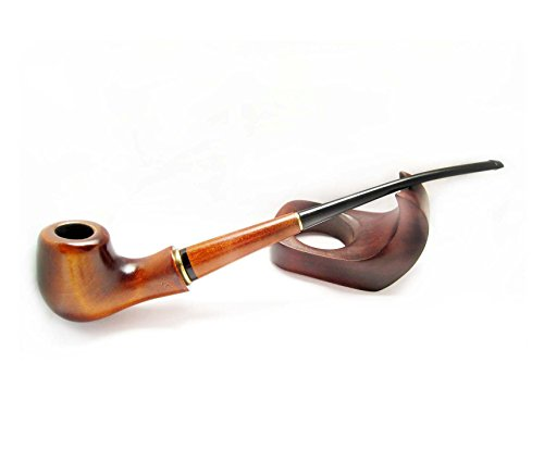 "Fashion Long Tobacco Pipes of Pear Root""LADY-BLUES"" 9'' Carving Handmade Designed for Pipe Smokers"