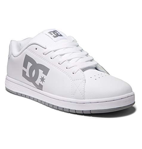 DC Shoes Gaveler-Leather Shoes, Scarpe da Ginnastica Uomo, Bianco, 44.5 EU