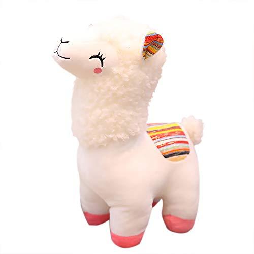 UOWEG Süßes Plüschtier Alpaka Dekokissen Stofftier Puppe Für Baby Kinder Mädchen Weihnachten Geburtstagsgeschenk Plüsch Plüschtiere Süße Weiche Spielzeug Geschenke Kleinkinder Kuscheltier