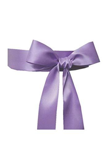 Wedding Sash Bridal Belts Simple Classic Silk Ribbon Sash for Dress (Lavender)