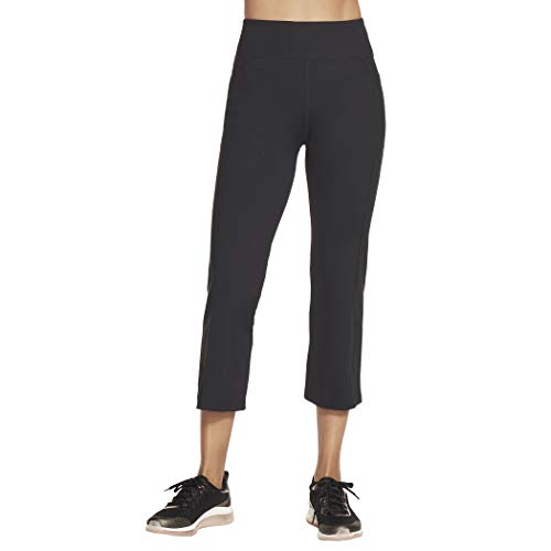 Skechers Walk Go Flex Crop Pants Pantis, Negro, XXXL para Mujer