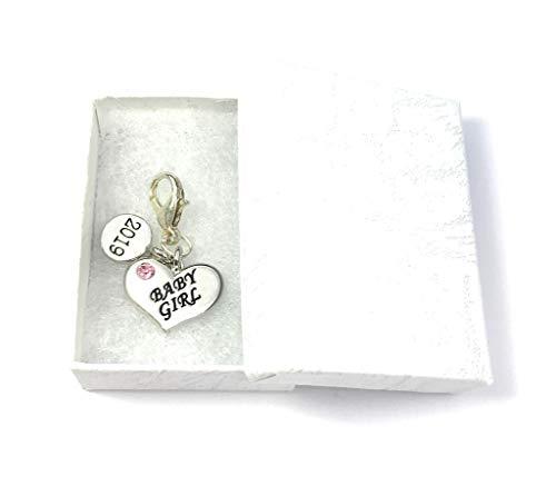 Forme de cœur bébé fille 2018 Charms à clip avec boîte cadeau à la main par Libby de place de marché