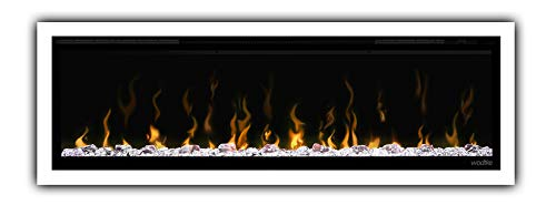 Elektrokamin wodtke feel the flame® X white - fire and ice (wandhängend, LED Glutbett mit verschiedenen Farben, max. 2 KW Heizleistung, Fernbedienung inkl.)